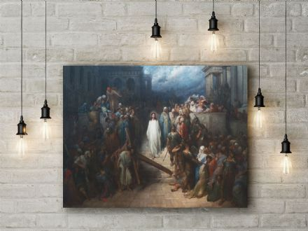 Gustave Dore: Christ Leaving the Courtroom. Fine Art Canvas.